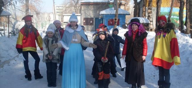 Масленица на юннатке, Арсеньев, февраль 2010
